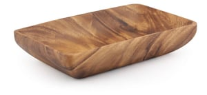 "Acacia Wood Rectangular Bowl 2"" x 10"" x 6"""