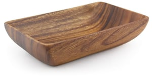 "Acacia Wood Rectangular Bowl 3"" x 12"" x 7.5"""