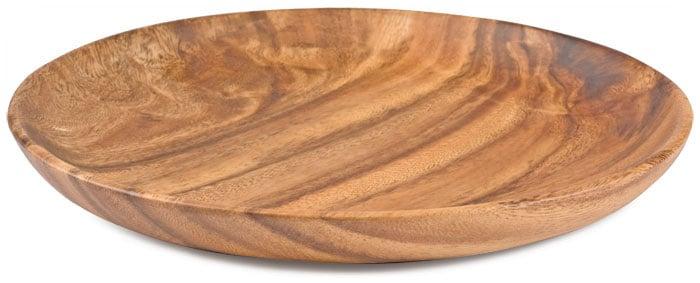 Acacia Wood Plates : Acacia wood round plate quot