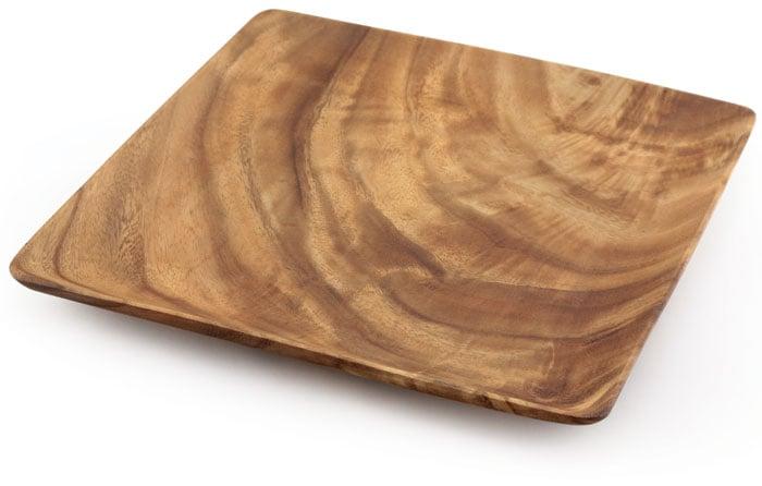 Acacia Wood Square Plate 1  x 12  x 12   sc 1 st  Island Woods & Acacia Wood Square Plate 1