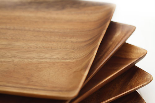 Plates & Wood Square Plate 1\